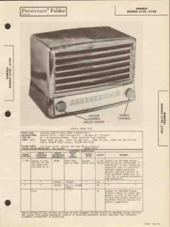 admiral model 6t01 6t05 6 tube am radio receiver sams photofact manual