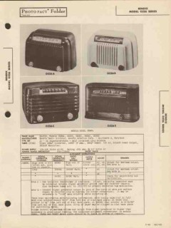 bendix model 0526x 5 tube am radio receiver sams photofact manual
