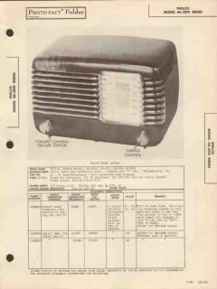 philco model 46-20x 5 tube am radio receiver sams photofact manual
