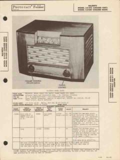 majestic model 5a410 5a430 am radio receiver sams photofact manual