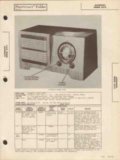 automatic model 612x 6 tube am radio receiver sams photofact manual