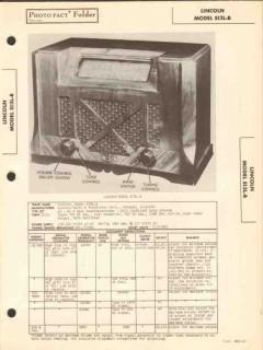 lincoln model s13l-b am sw radio receiver sams photofact manual