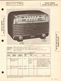 philco model 46-250 46-251 am radio receiver sams photofact manual