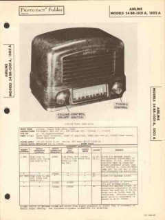airline models 54br-1501a 54br-1502a am radio sams photofact manual