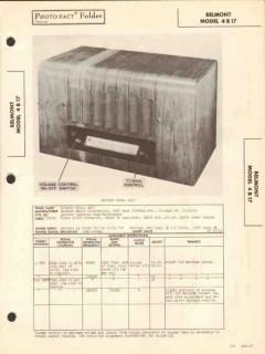 belmont model 4b17 4 tube am radio receiver sams photofact manual