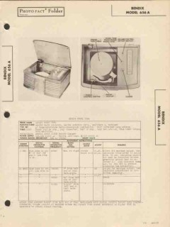bendix model 656a am radio receiver phonograph sams photofact manual