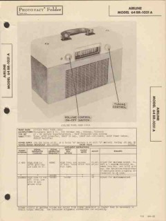 airline model 64br-1051a am sw radio receiver sams photofact manual