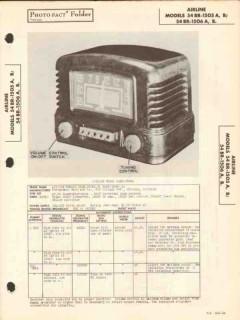 airline model 54br-1505x 54br-1506x am radio sams photofact manual