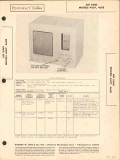 air king model 4607 4608 am radio receiver sams photofact manual