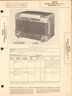airline model 54br-1503x 54br-1504x am radio sams photofact manual
