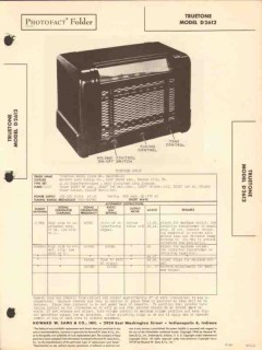 truetone model d2612 6 tube am radio receiver sams photofact manual