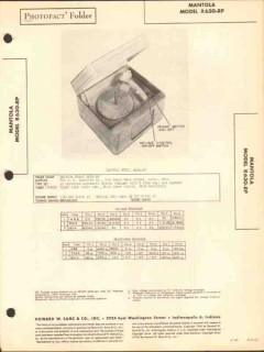 mantola model r630-rp phonograph record player sams photofact manual