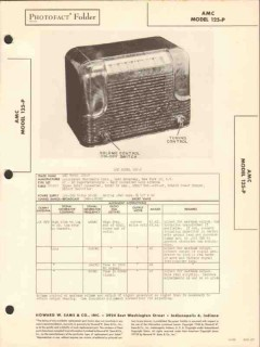 amc model 125-p 5 tube am radio receiver sams photofact manual