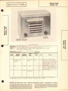 magic-tone model 501 5 tube am radio receiver sams photofact manual