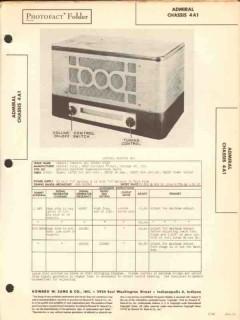 admiral model 4a1 4 tube am sw radio receiver sams photofact manual