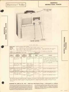 mantola model r662 r662n am radio receiver sams photofact manual
