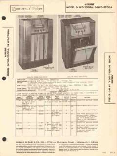 airline model 54wg-2x00a am sw radio phonograph sams photofact manual
