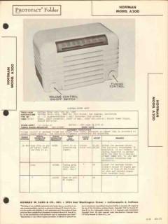hoffman model a200 am radio receiver sams photofact manual