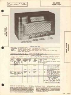 air king model 4604 6 tube am sw radio receiver sams photofact manual