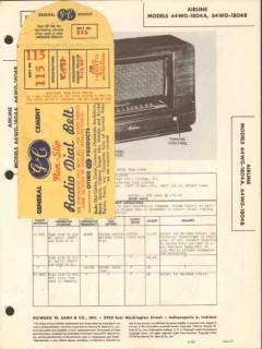 airline model 64wg-1804a 64wg-1804b am radio sams photofact manual