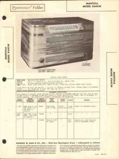 mantola model r643w 4 tube am radio receiver sams photofact manual