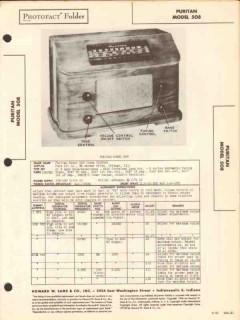 puritan model 508 7 tube am radio receiver sams photofact manual