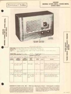 airline model 54wg-1801x am radio receiver sams photofact manual