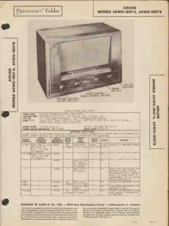 airline model 64wg-1807a 64wg-1807b am sw radio sams photofact manual