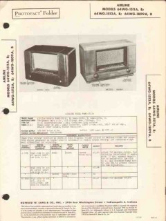 airline model 64wg-151xx 64wg-1809x am radio sams photofact manual