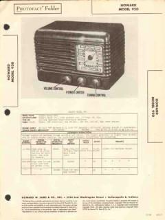 howard model 920 4 tube am radio receiver sams photofact manual