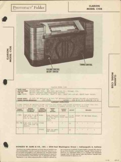 clarion model c108 am radio receiver sams photofact manual