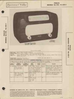 philco model 46-421 46-421-1 am radio receiver sams photofact manual