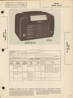 philco model 46-131 4 tube am radio receiver sams photofact manual