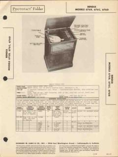 bendix models 676x am sw radio receiver phono sams photofact manual