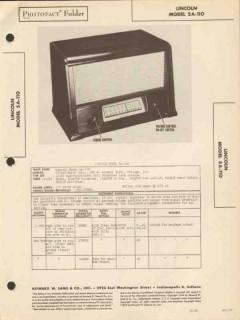 lincoln model 5a-110 5 tube am radio receiver sams photofact manual