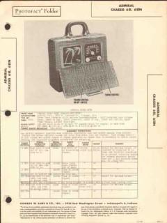 admiral model 6p32 6ei 6ein am radio receiver sams photofact manual