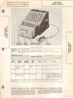 chevrolet model 985792 am car radio receiver sams photofact manual