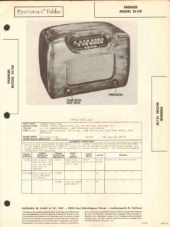 premier model 15lw 5 tube am radio receiver sams photofact manual
