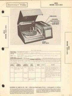 aria model 554-1-61a 6 tube am radio phonograph sams photofact manual