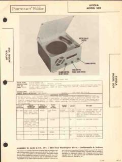 aviola model 509 am radio receiver phonograph sams photofact manual