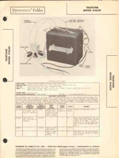 truetone model d4630 am car radio receiver sams photofact manual