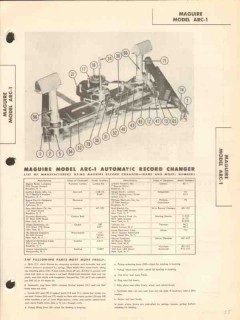 maguire model arc-1 automatic record changer sams photofact manual