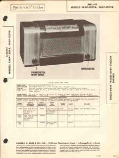 airline model 54kp-1209a 54kp-1209b am radio sams photofact manual