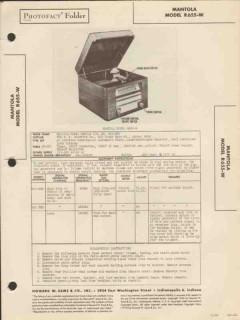 mantola model r655-w 5 tube am radio phonograph sams photofact manual