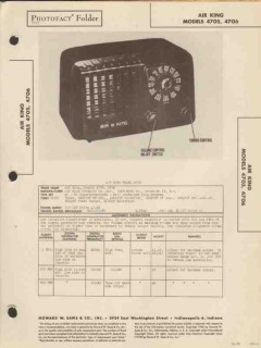 air king model 4705 4706 am radio receiver sams photofact manual