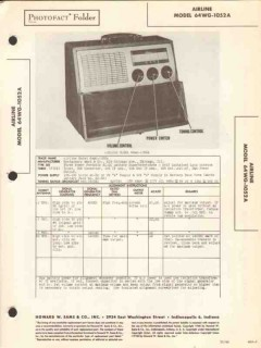 airline model 64wg-1052a am radio receiver sams photofact manual