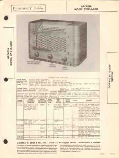 arcadia model 37d14-600 am sw radio receiver sams photofact manual