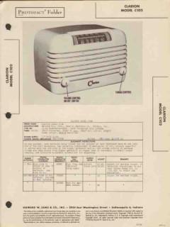 clarion model c102 am radio receiver sams photofact manual