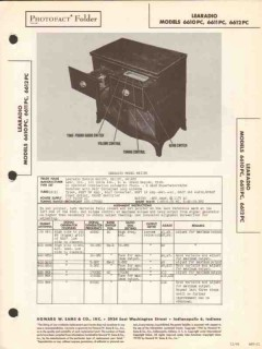 learadio model 661xpc am sw radio phonograph sams photofact manual
