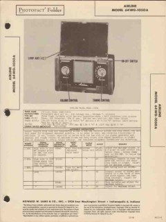airline model 64wg-1050a am radio receiver sams photofact manual